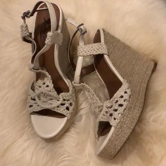 c6317547204 Lucky Brand Shoes - Lucky brand natural crochet jute wedge sandals